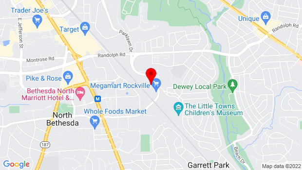 Google Map of 11810 Parklawn Drive, Rockville, MD 20852