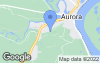Map of Aurora, IN