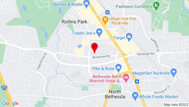 Google Map of 6125 Montrose Road, Rockville, MD 20852