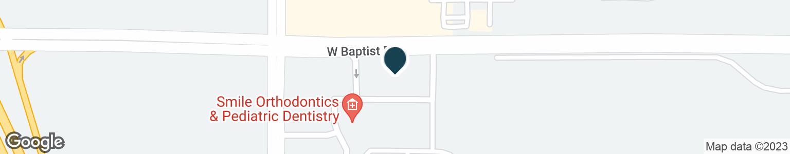 Google Map of725 W BAPTIST RD