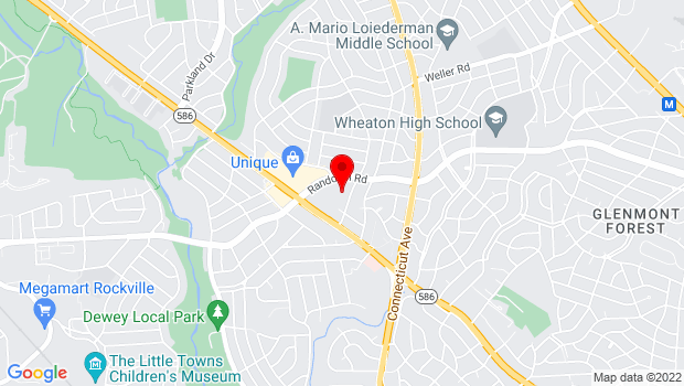 Google Map of 4010 Randolph Road, Silver Spring, MD 20902