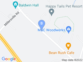 Map of Happy Tails Pet Resort Dog Boarding options in Crownsville | Boarding
