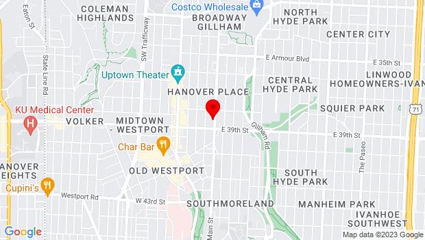 Google Map of 3828 Main Street, Kansas City, MO 64111