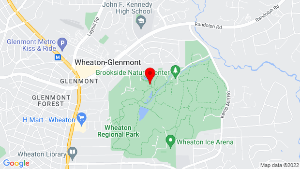 Google Map of 1800 Glenallan Ave., Wheaton, MD 20902