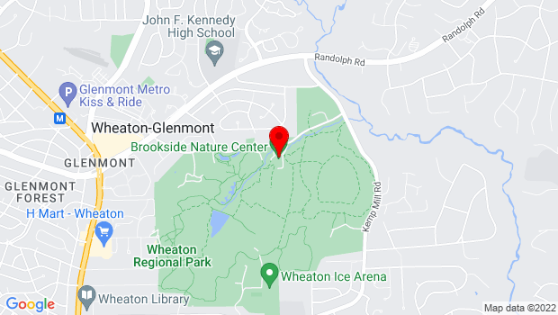 Google Map of 1400 Glenallan Avenue, Wheaton, MD 20902