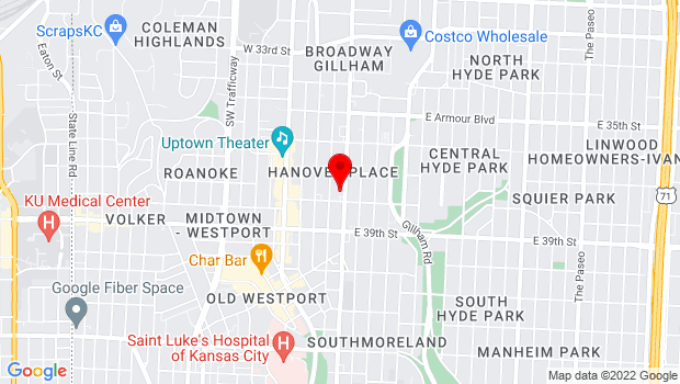 Google Map of 3732 Main Street, Kansas City, MO 64111