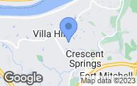 Map of Villa Hills, KY