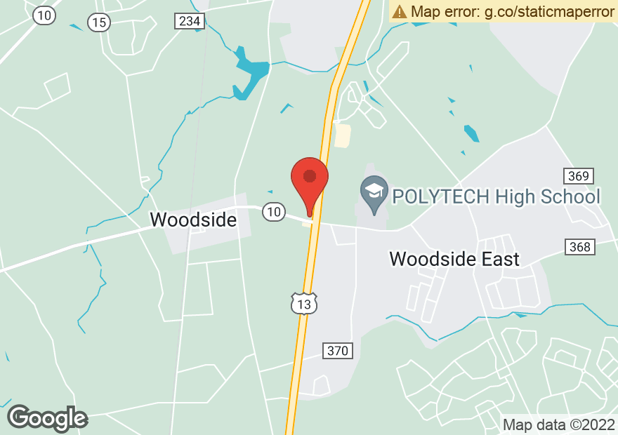 Google Map of 5506 S DUPONT HWY