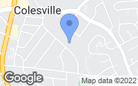 Map of Colesville, MD