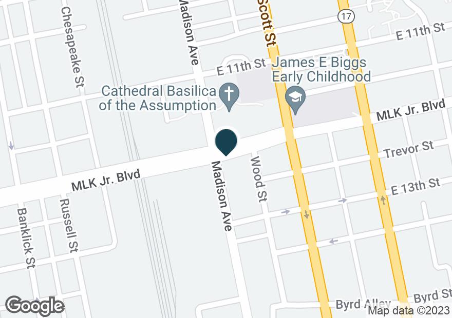 Google Map of1220 MADISON AVE