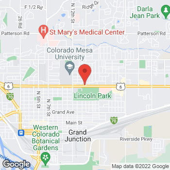 Map of Taco John's at 1430 North Ave, Grand Junction, CO 81501