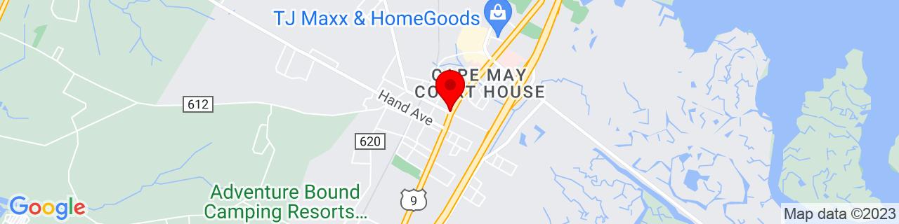 Google Map of 39.0825, -74.82388888888889