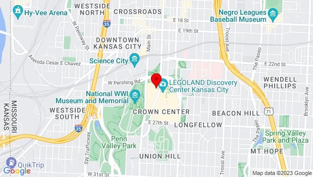 Google Map of 2450 Grand Blvd, Kansas City, MO 64108