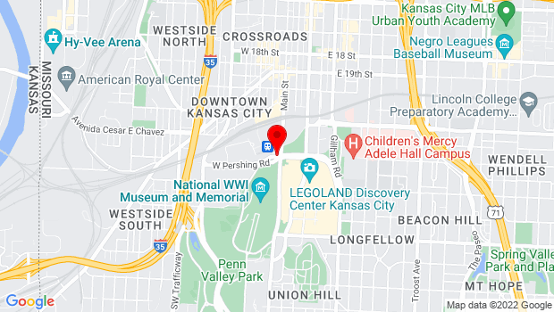 Google Map of 30 West Pershing Road, Kansas City, MO 64108