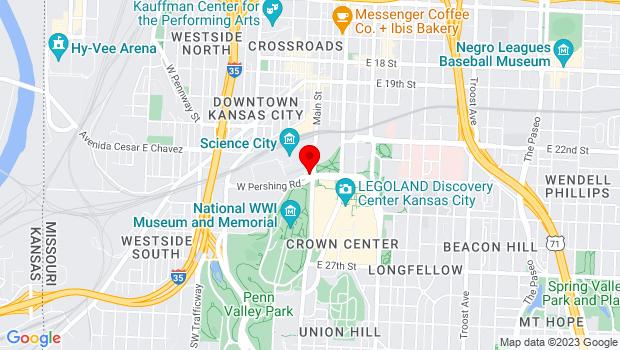 Google Map of 30 W. Pershing Road, Suite 400, Kansas City, MO 64108