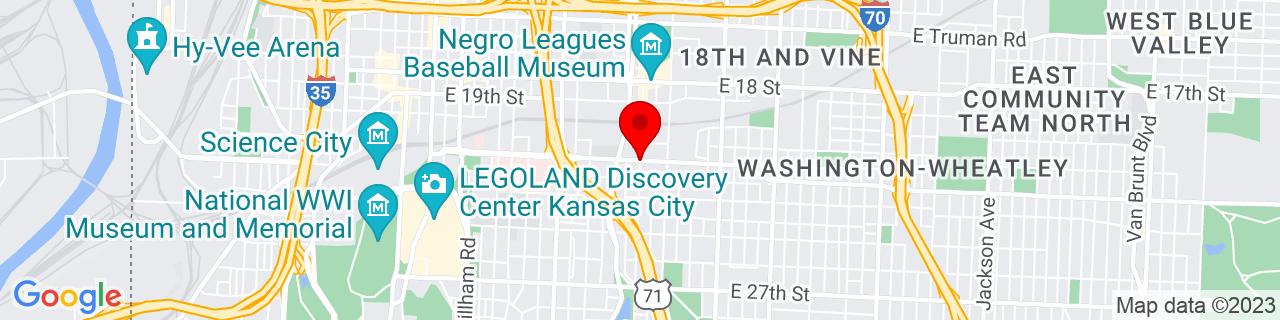 Google Map of 39.085912, -94.5635965