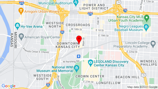 Google Map of 2020 Baltimore Ave., Kansas City, MO 64108