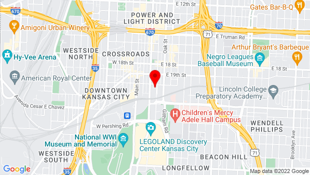 Google Map of 2010 McGee Street, Kansas City, MO 64108