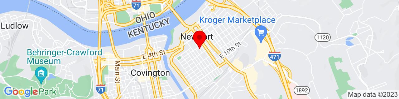 Google Map of 39.0886885, -84.4949939