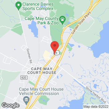 Map of Arby's at 405 N Route 9, Cape May Court House, NJ 08210-1960