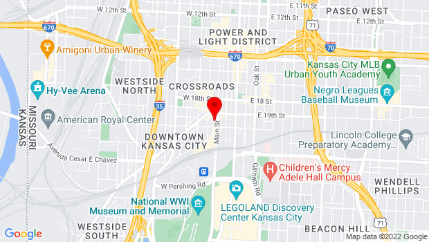 Google Map of 1914 Main Street, Kansas City, MO 64108