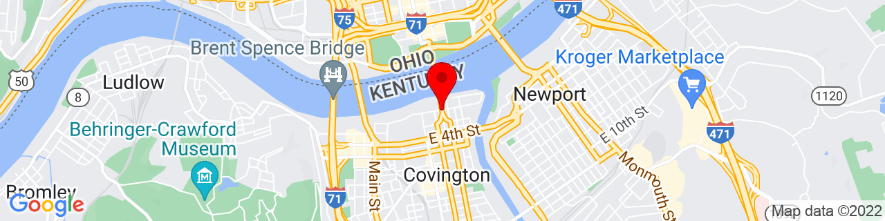 Google Map of 39.0898587, -84.509151