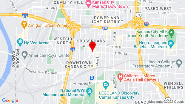 Google Map of 106 Southwest Blvd, Kansas City, MO 64106