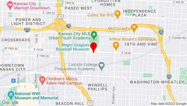 Google Map of 1615 E 18th St., Kansas City, MO 64108