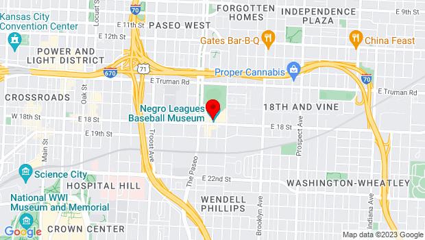 Google Map of 1616 E 18th St, Kansas City, MO 64108