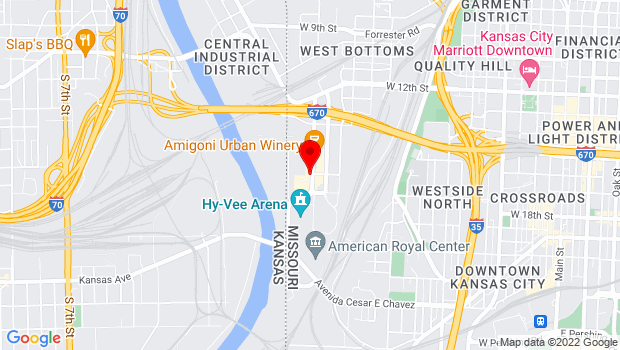 Google Map of 1600 Genessee, Ste #133, Kansas City, MO 64102