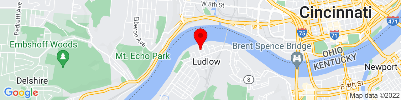 Google Map of 39.0949664, -84.54902469999999