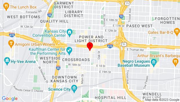Google Map of 1520 Grand Blvd., Kansas City, MO 64108