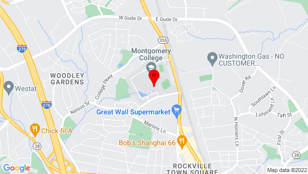 Google Map of 51 Mannakee St., Rockville, MD 20850