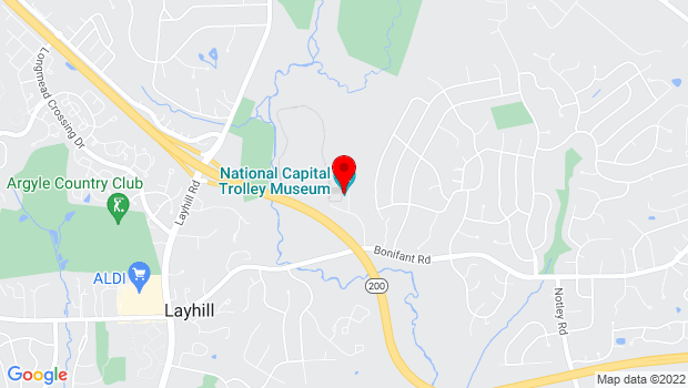 Google Map of 1313 Bonifant Road, Colesville, MD 20905