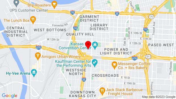 Google Map of 415 West 13th Street, Kansas City, MO 64105
