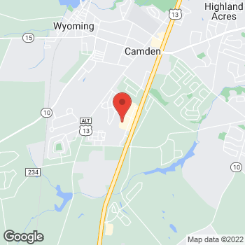 Map of Verizon Authorized Retailer, TCC at 386 Walmart Dr, Camden, DE 19934