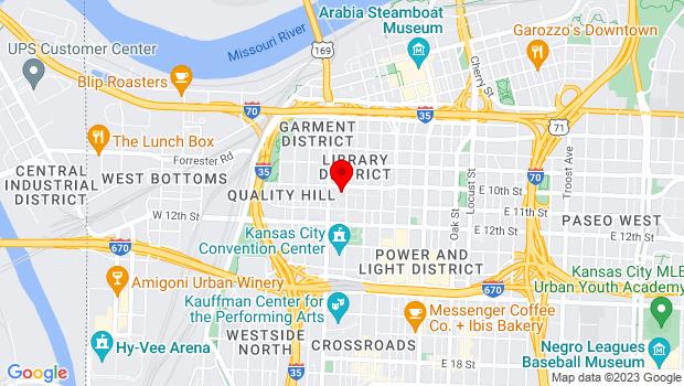 Google Map of 303 W 10th St, Kansas City, MO 64105