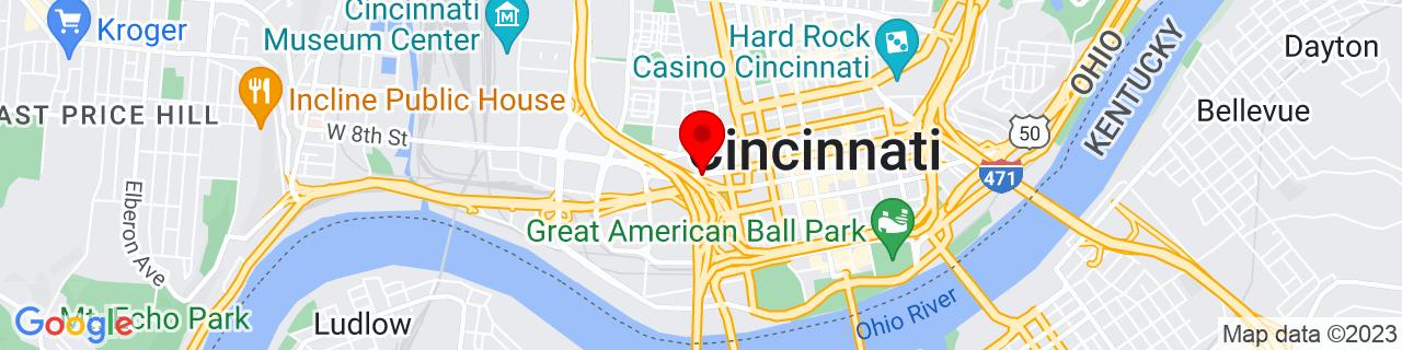 Google Map of 39.1024543, -84.522037