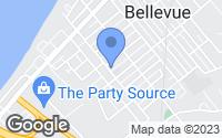 Map of Bellevue, KY
