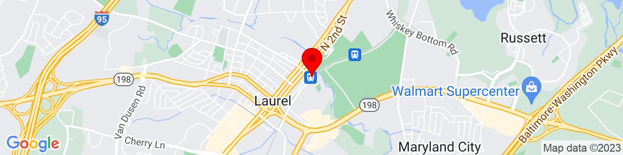 Google Map of 39.1025356, -76.8414225