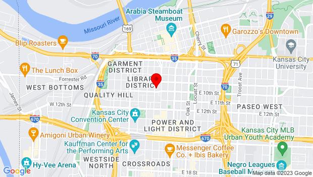 Google Map of 14 W. 10th Street, Kansas City, MO 64105
