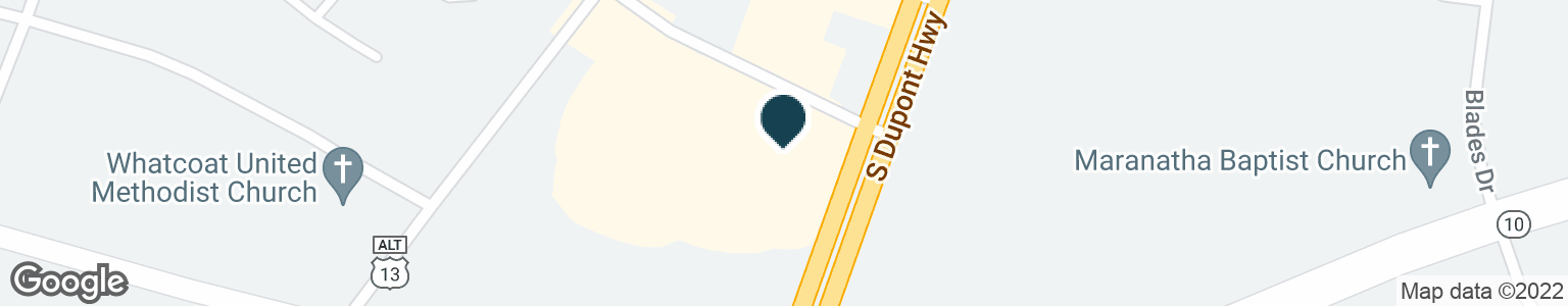 Google Map of2480 S DUPONT HWY