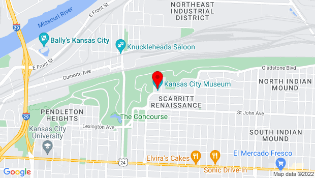 Google Map of 3218 Gladstone Boulevard, Kansas City, MO 64123