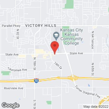 Map of Taco Bell at 7337 State Ave, Kansas City, KS 66112