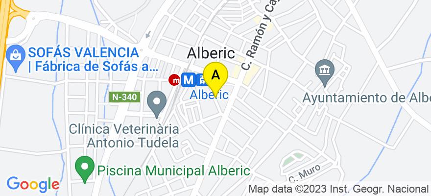 situacion en el mapa de . Direccion: Calle Goya, 16, 1º, 2ª, 46260 Alberic. Valencia