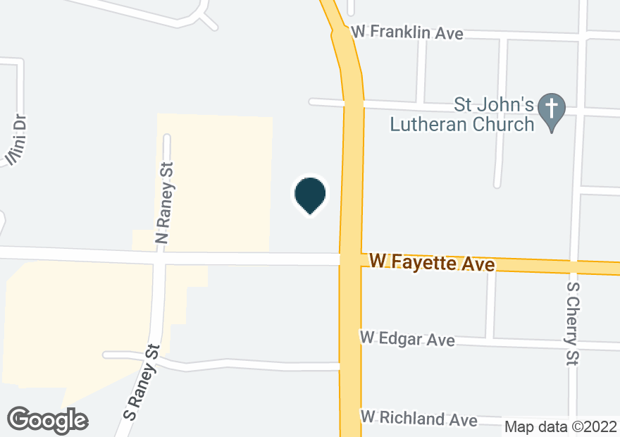 Google Map of1200 W FAYETTE AVE