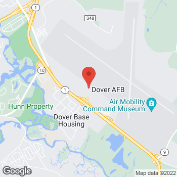 Map of Tim Hortons at Dover Air Force Base, Dover, DE 19902
