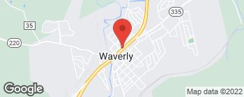Mapa de 205 E Emmitt Ave en Waverly