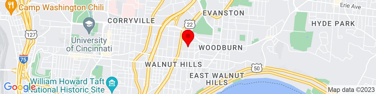 Google Map of 39.1298789, -84.48609019999999