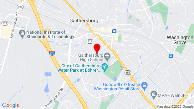 Google Map of 100 DeSellum Avenue, Gaithersburg, MD 20877